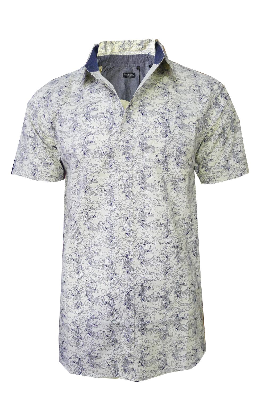 Brave-Soul-Homme-Designer-Terrell-a-Manches-Courtes-Premium-Coton-Top-Chemise-Decontractee miniature 3