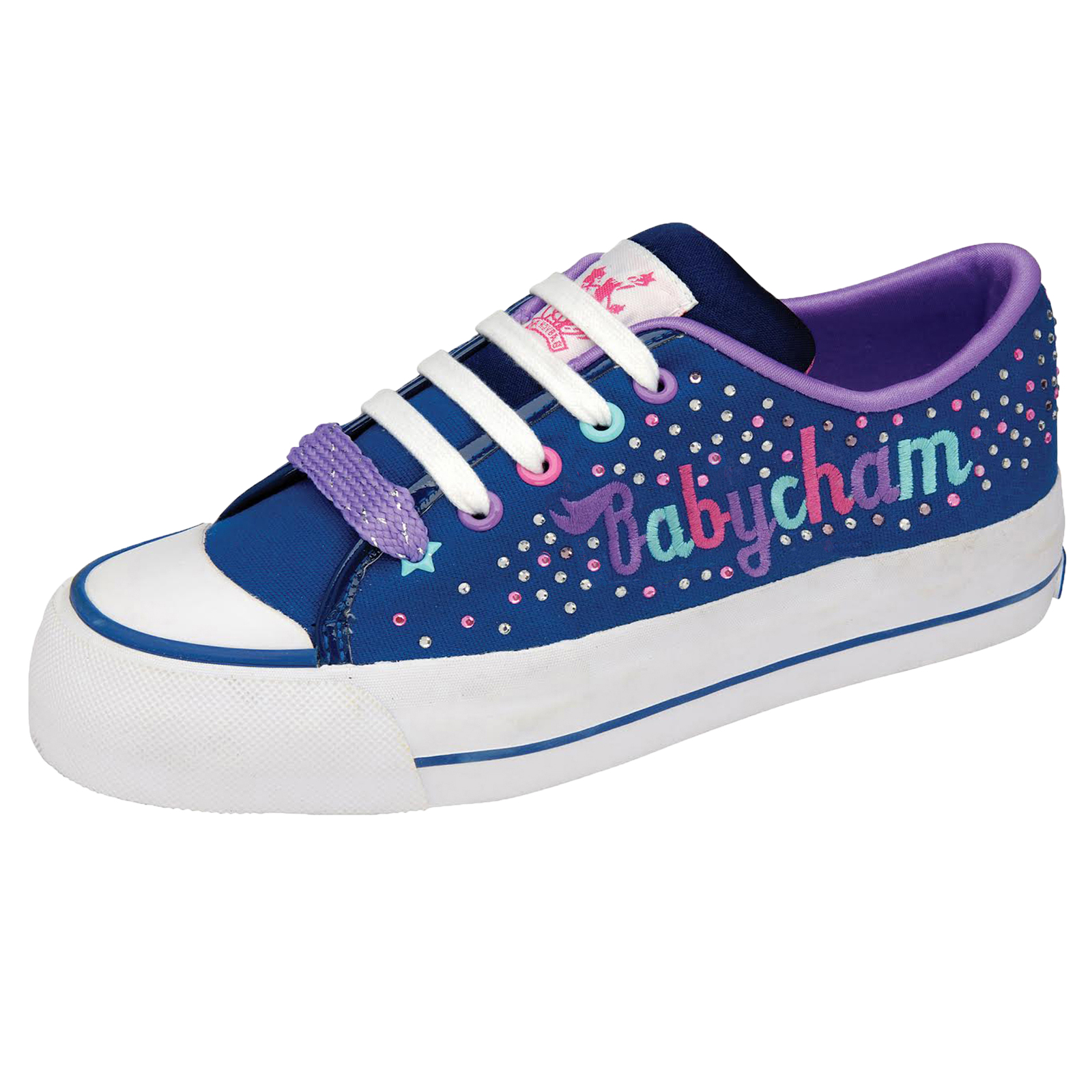 2017 Babycham Marina Multi Flatform Navy/Purple Women Trainers