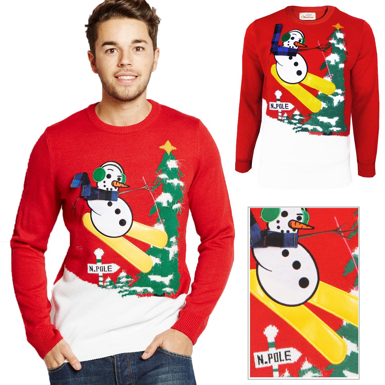 Snowman Scarf Crewneck Funny Ugly Christmas Xmas Frosty Holiday Sweatshirts