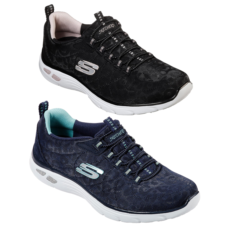 Details zu Skechers Damen Imperium D'Lux Gepunktet Memory Foam Gepolstert Athletic