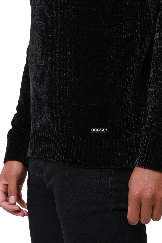 Threadbare-Mens-Chenille-Knitted-Jumper-Crew-Neck-Winter-Sweater-Pullover-Top thumbnail 5