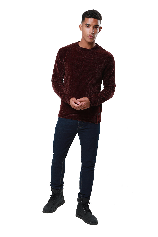 Threadbare-Mens-Chenille-Knitted-Jumper-Crew-Neck-Winter-Sweater-Pullover-Top thumbnail 11
