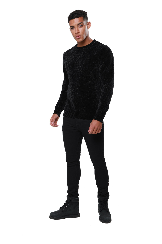 Threadbare-Mens-Chenille-Knitted-Jumper-Crew-Neck-Winter-Sweater-Pullover-Top thumbnail 4