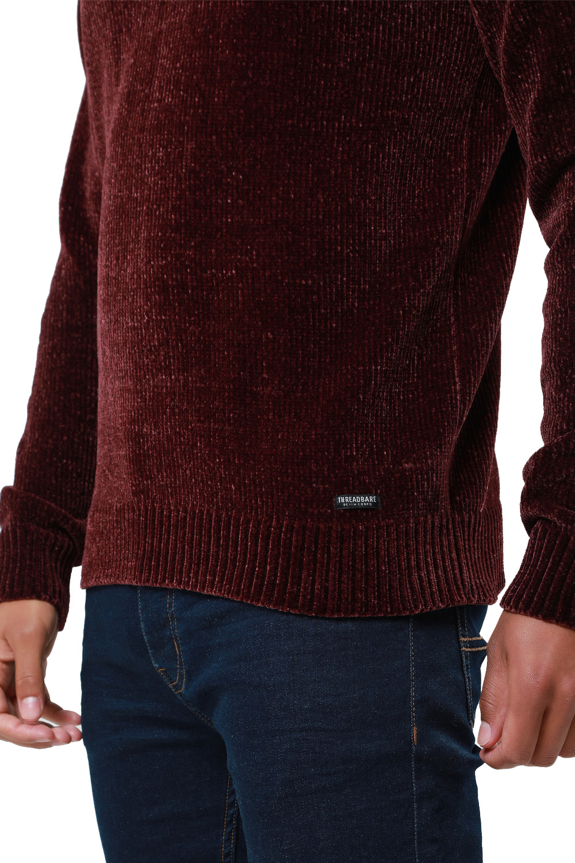 Threadbare-Mens-Chenille-Knitted-Jumper-Crew-Neck-Winter-Sweater-Pullover-Top thumbnail 13