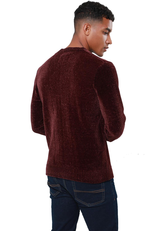 Threadbare-Mens-Chenille-Knitted-Jumper-Crew-Neck-Winter-Sweater-Pullover-Top thumbnail 12