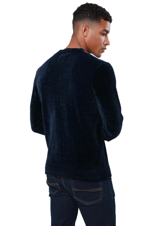 Threadbare-Mens-Chenille-Knitted-Jumper-Crew-Neck-Winter-Sweater-Pullover-Top thumbnail 8