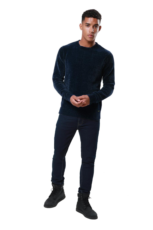 Threadbare-Mens-Chenille-Knitted-Jumper-Crew-Neck-Winter-Sweater-Pullover-Top thumbnail 7