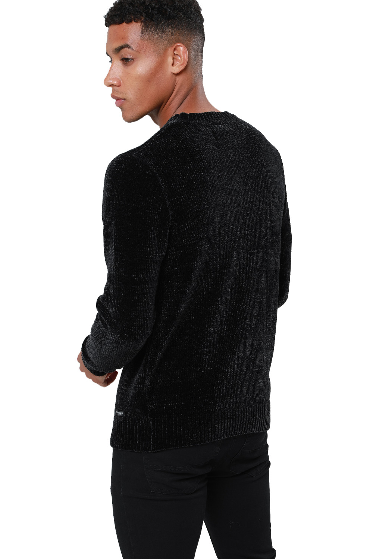 Threadbare-Mens-Chenille-Knitted-Jumper-Crew-Neck-Winter-Sweater-Pullover-Top thumbnail 3