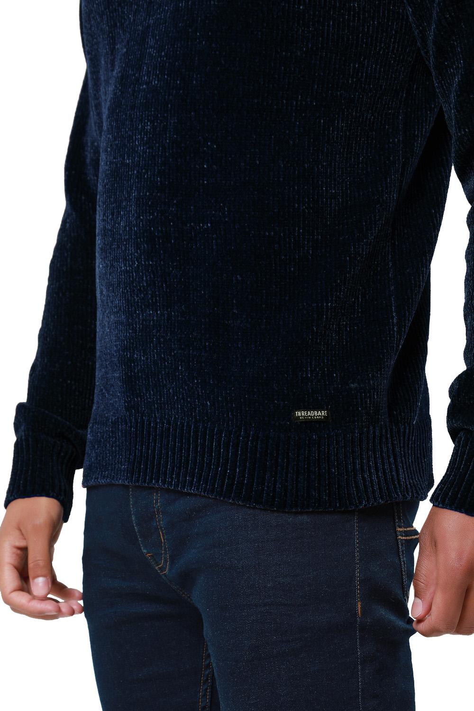 Threadbare-Mens-Chenille-Knitted-Jumper-Crew-Neck-Winter-Sweater-Pullover-Top thumbnail 9