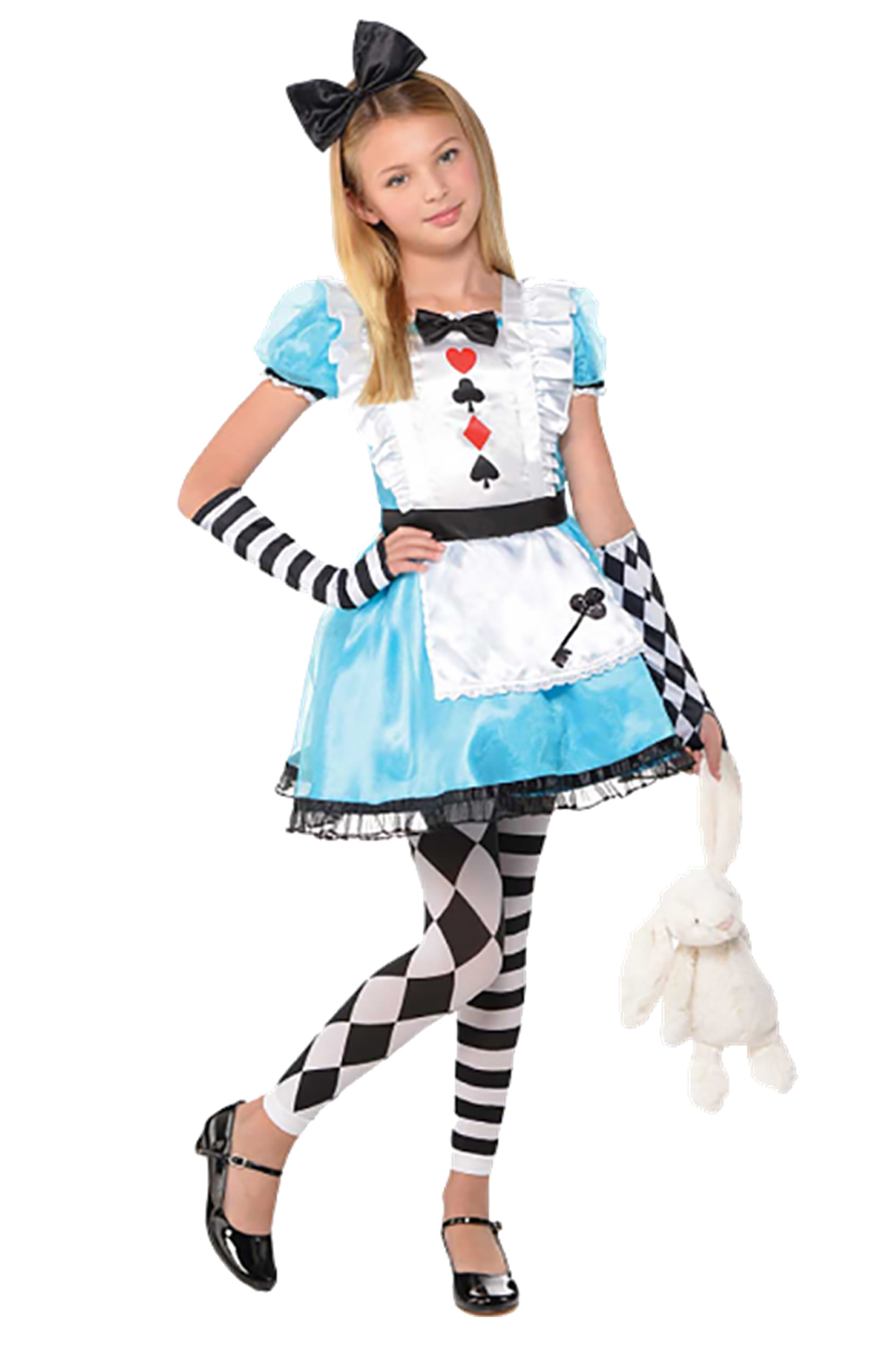 Christys Dress Up Girls Clever Alice In Wonderland Outfit Fancy Dress Costume | EBay