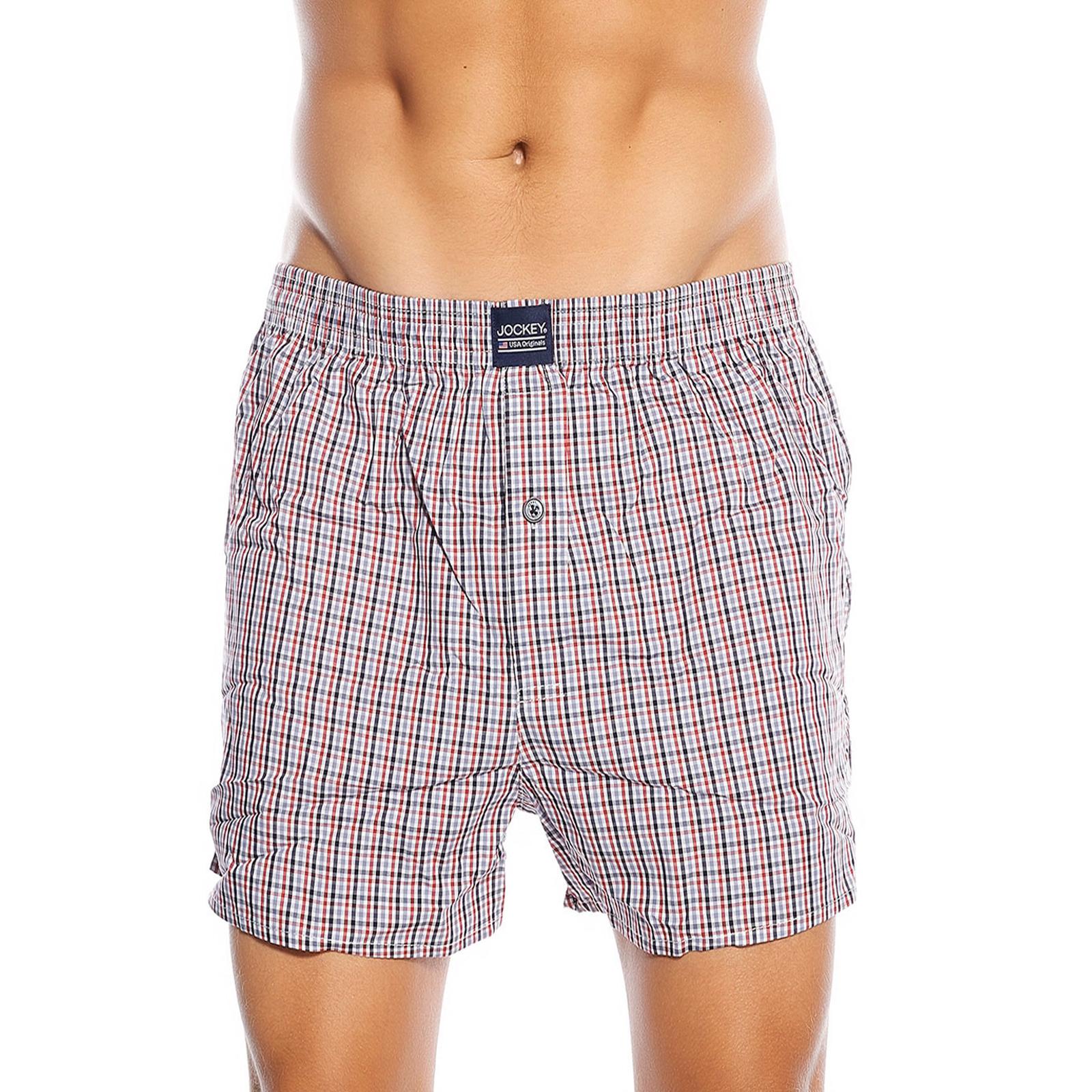 Jockey-usa-homme-lot-de-2-boxer-shorts-big-tall-king-taille-reguliere-en-rouge-bleu-marine