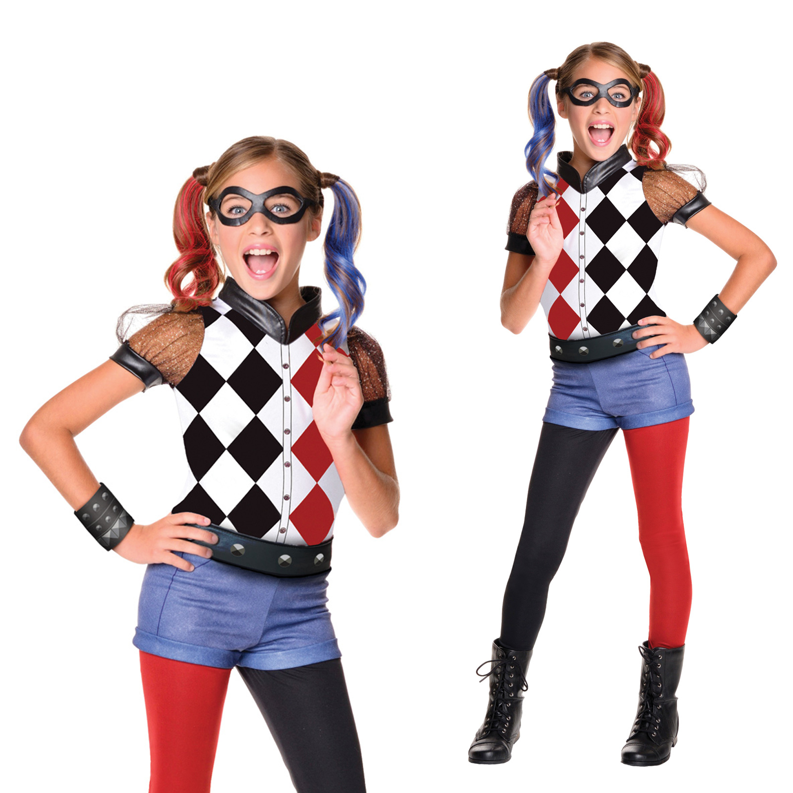 Rubies Official Dc Superhero Girls Deluxe Harley Quinn Fancy Dress