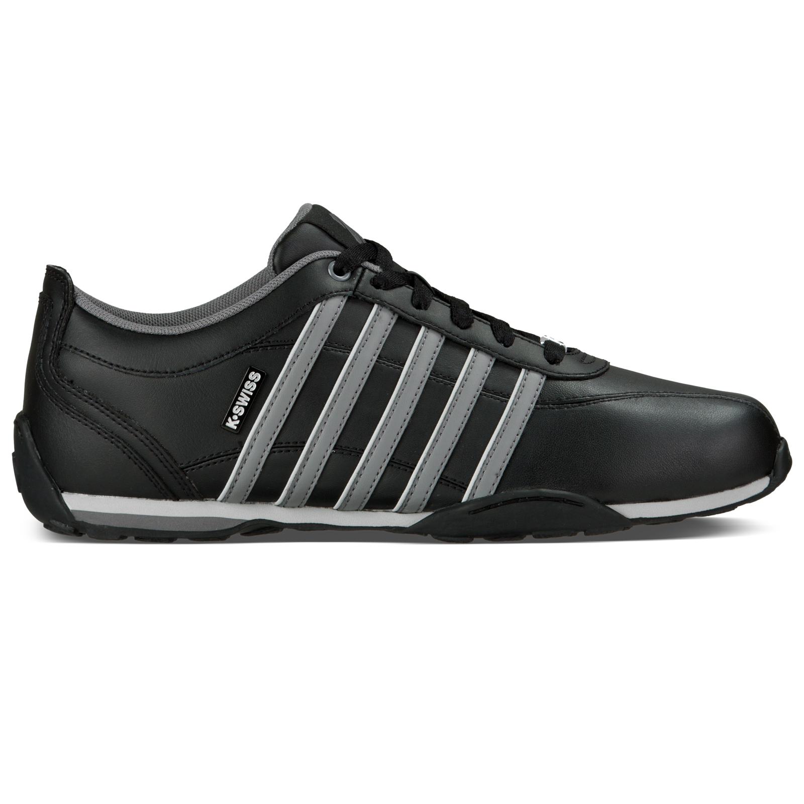 - K Swiss Arvee 1.5 sneaker uomo a basso basso basso profilo lacci in pelle nera Scarpa Sneaker 160e2e