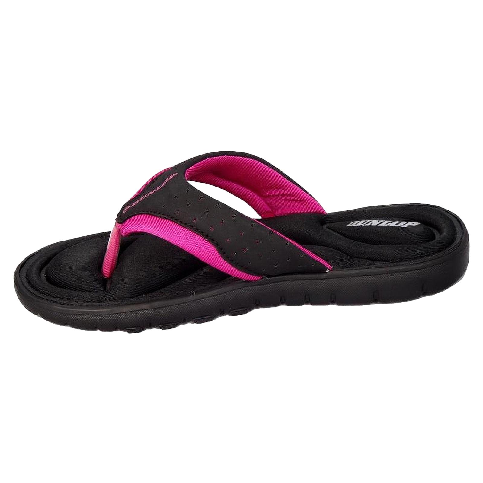 f819aa06e4c94 Womens Flip Flops Dunlop Ladies Memory Foam Toe Post Slip on Beach ...