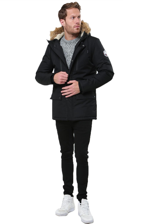 Threadbare Mens O Grady Padded Jacket Faux Fur Hooded