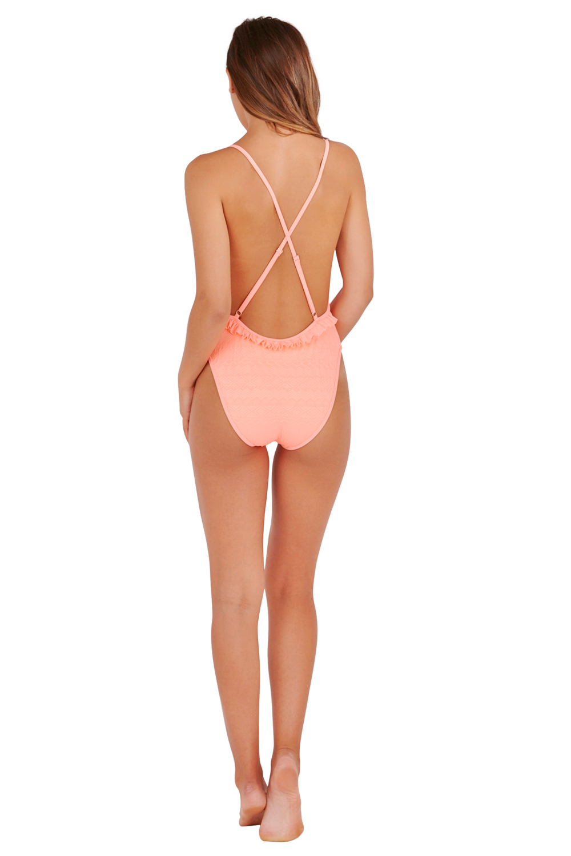 b86b87b69ccf3 Boutique Womens Scoop Neck Swimsuit Ladies Low Back One Piece ...