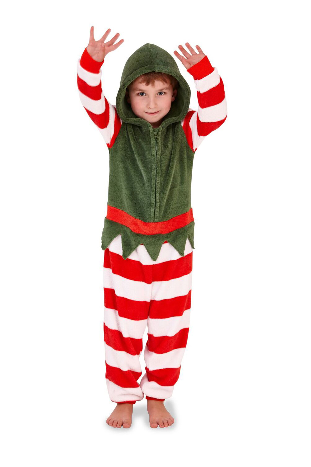 9f67b1be0f Nifty Kids Christmas Elf Super Soft All In One Girls Festive Hooded ...