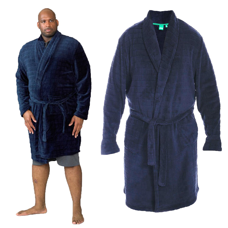 Enno D555 By Duke Men/'s Kingsize Super Soft Dressing Gown