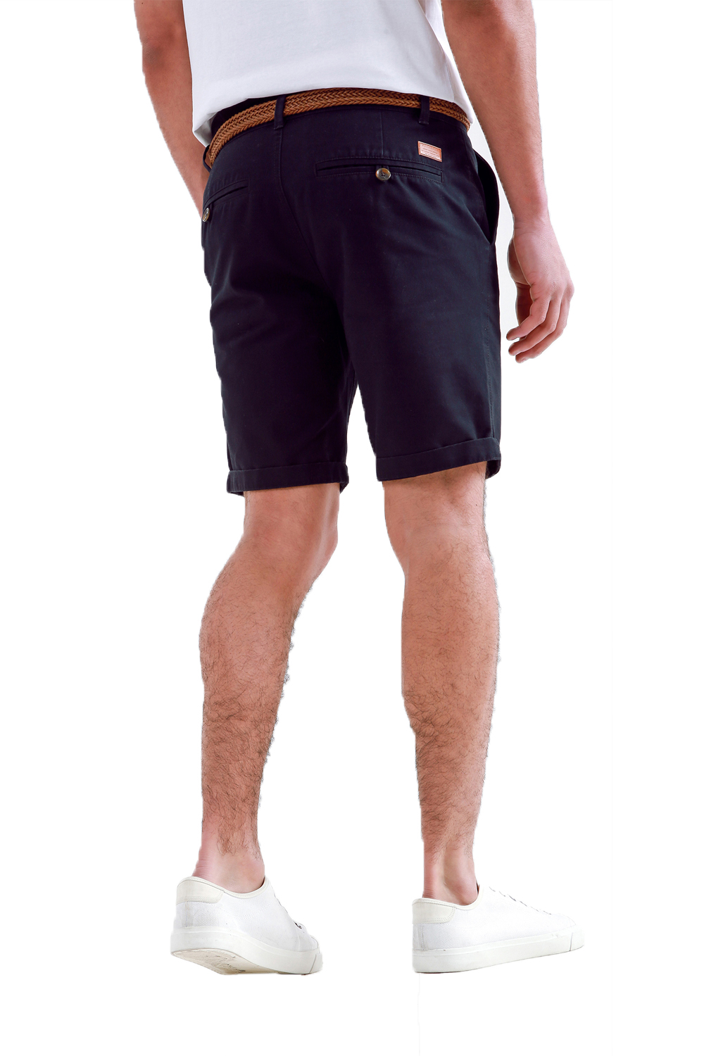 Threadbare-Mens-Slim-Fit-Belted-Chino-Shorts-Summer-Casual-Cotton-Smart-Bottoms thumbnail 5