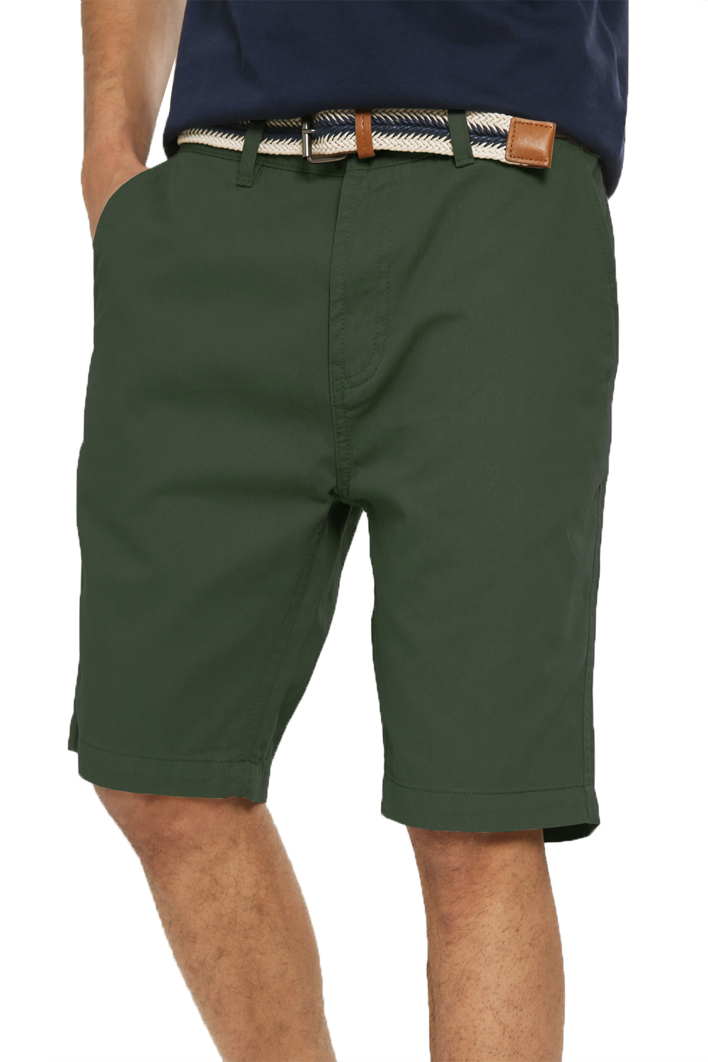 Threadbare-Mens-Slim-Fit-Belted-Chino-Shorts-Summer-Casual-Cotton-Smart-Bottoms thumbnail 30