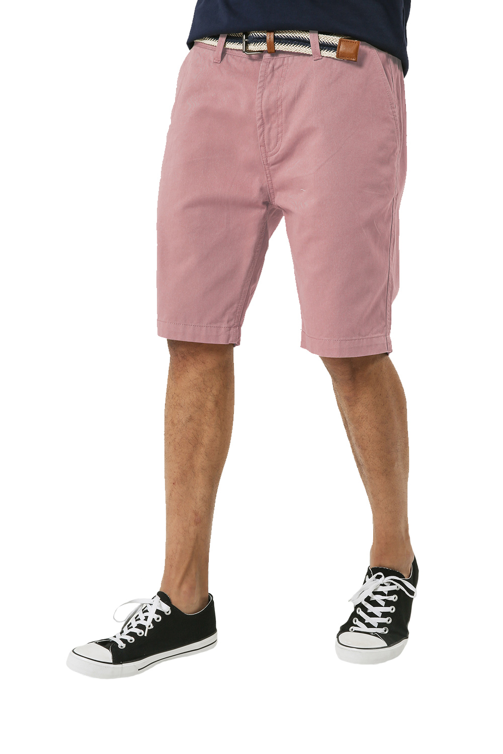 Threadbare-Mens-Slim-Fit-Belted-Chino-Shorts-Summer-Casual-Cotton-Smart-Bottoms thumbnail 38