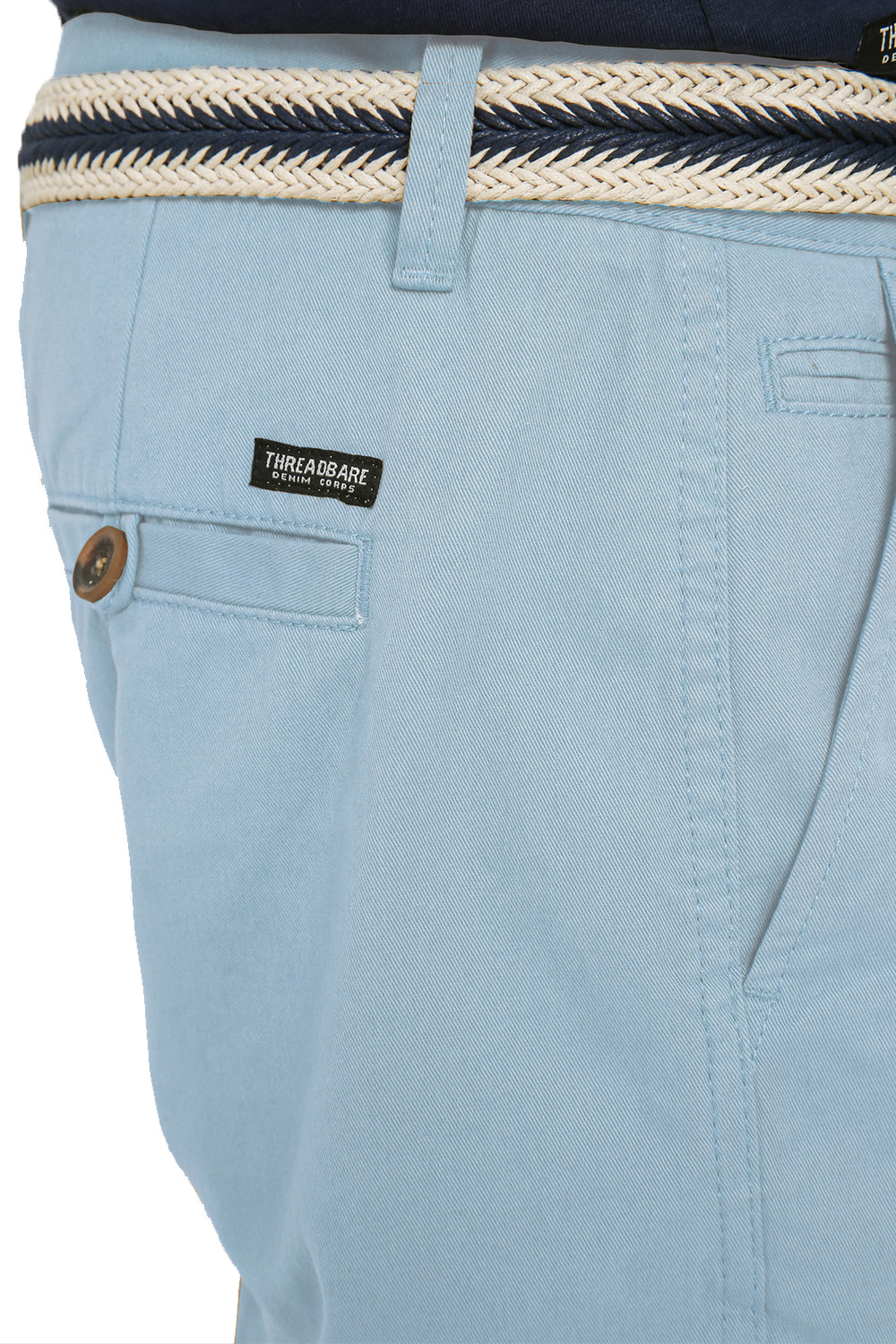Threadbare-Mens-Slim-Fit-Belted-Chino-Shorts-Summer-Casual-Cotton-Smart-Bottoms thumbnail 35
