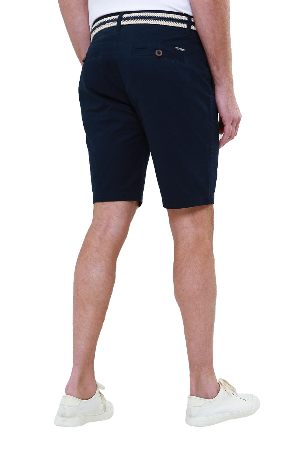 Threadbare-Mens-Slim-Fit-Belted-Chino-Shorts-Summer-Casual-Cotton-Smart-Bottoms thumbnail 23