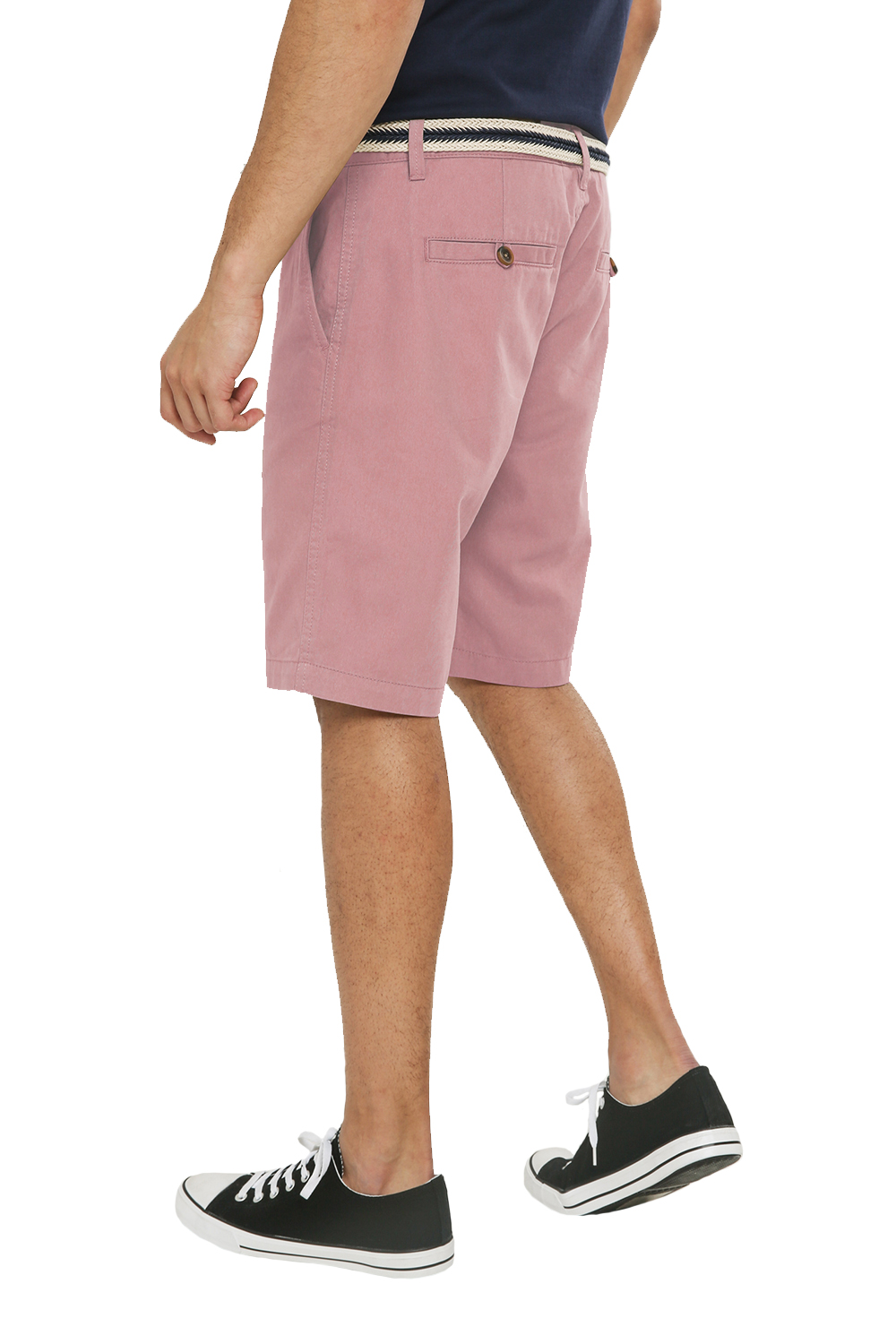 Threadbare-Mens-Slim-Fit-Belted-Chino-Shorts-Summer-Casual-Cotton-Smart-Bottoms thumbnail 41