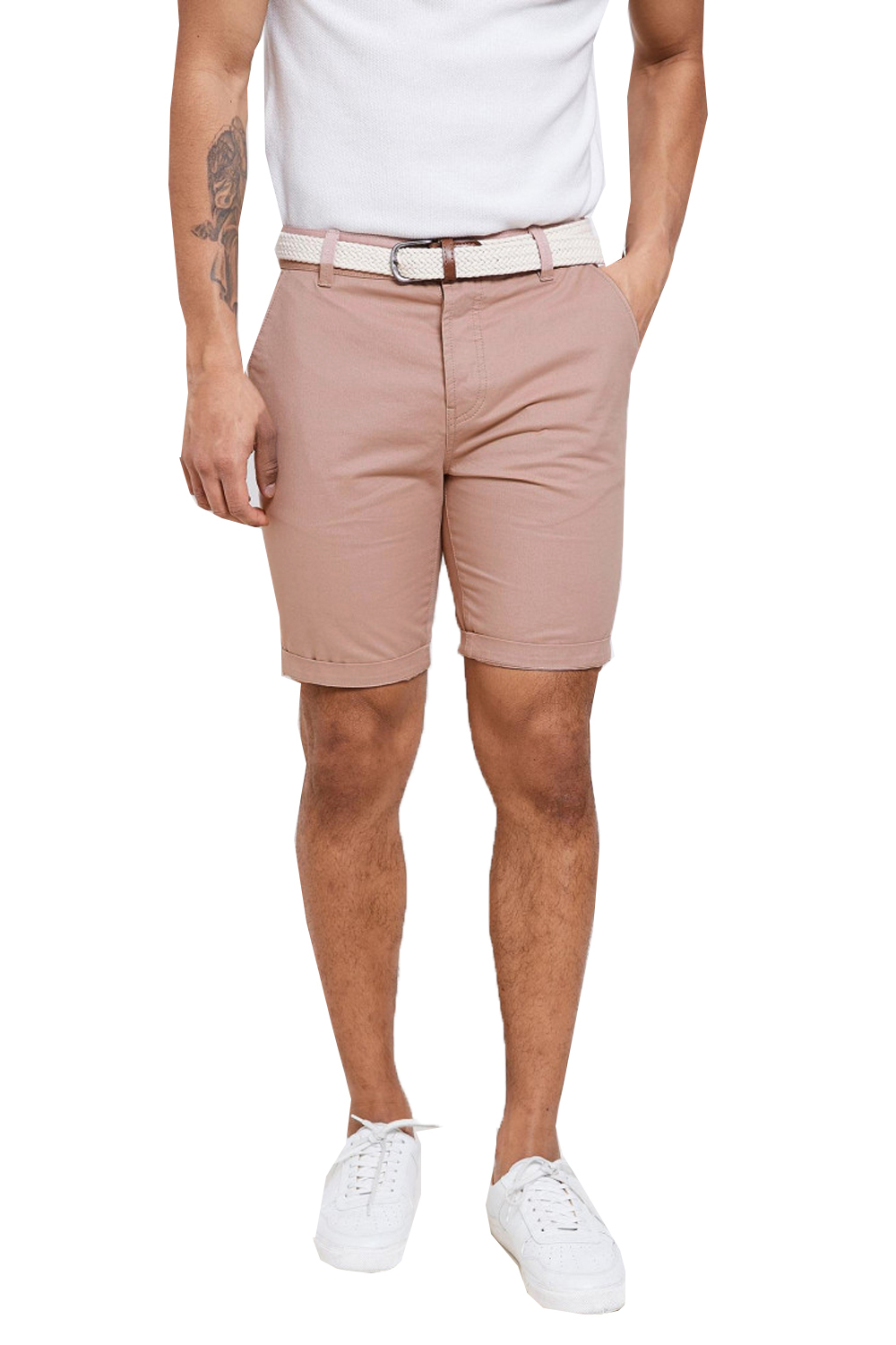 Threadbare-Mens-Slim-Fit-Belted-Chino-Shorts-Summer-Casual-Cotton-Smart-Bottoms thumbnail 15
