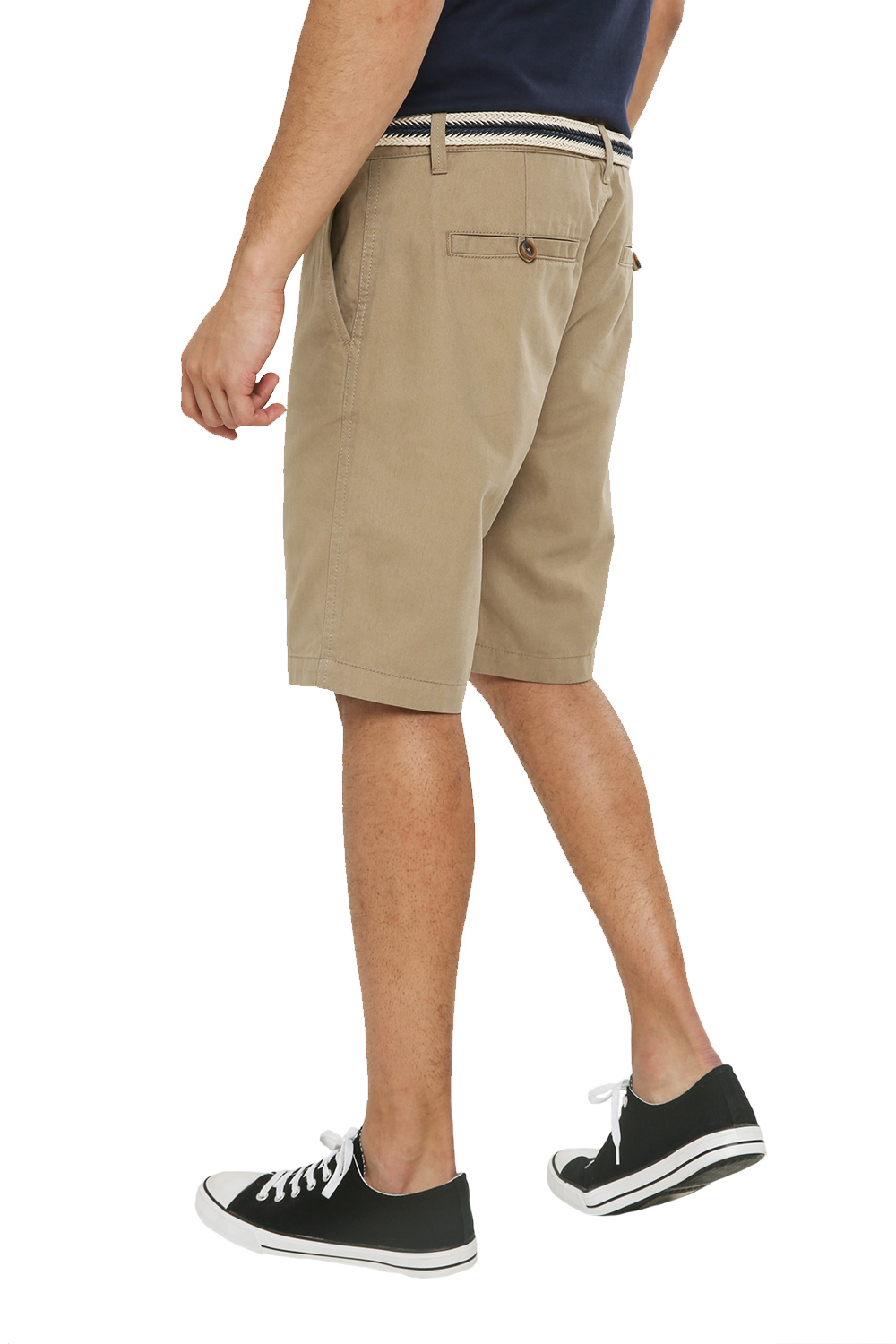 Threadbare-Mens-Slim-Fit-Belted-Chino-Shorts-Summer-Casual-Cotton-Smart-Bottoms thumbnail 27