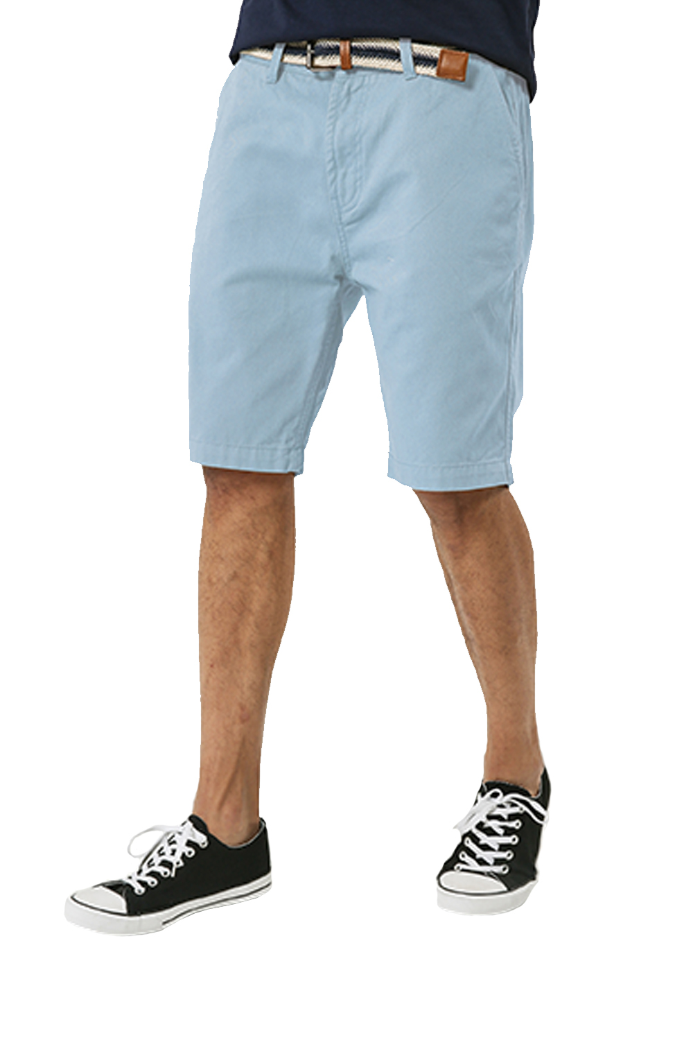 Threadbare-Mens-Slim-Fit-Belted-Chino-Shorts-Summer-Casual-Cotton-Smart-Bottoms thumbnail 33