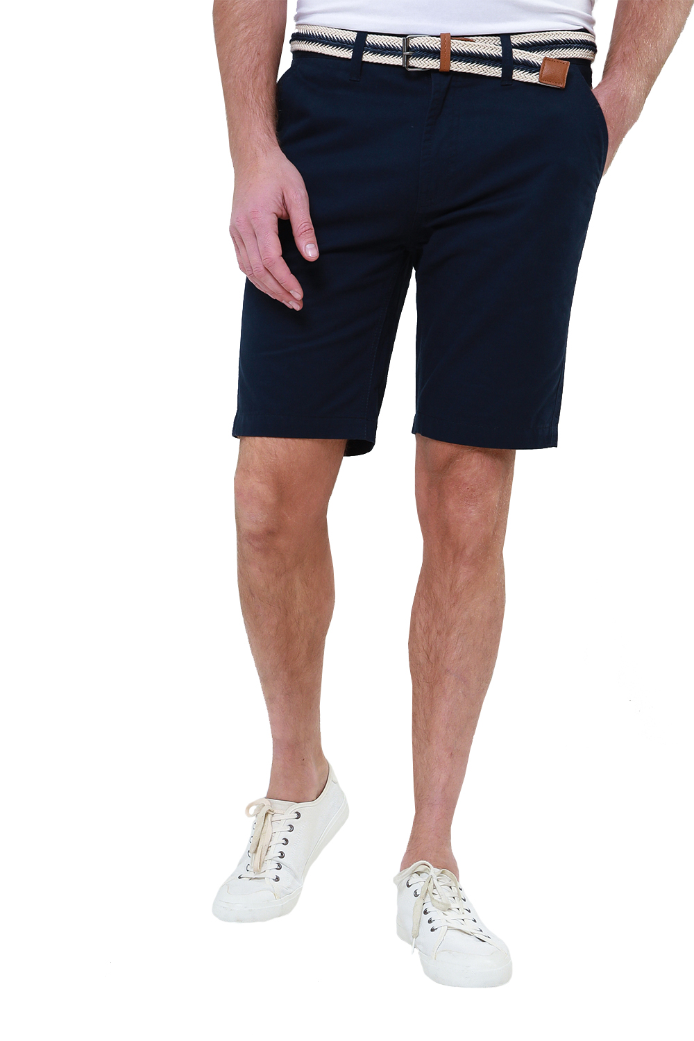 Threadbare-Mens-Slim-Fit-Belted-Chino-Shorts-Summer-Casual-Cotton-Smart-Bottoms thumbnail 21