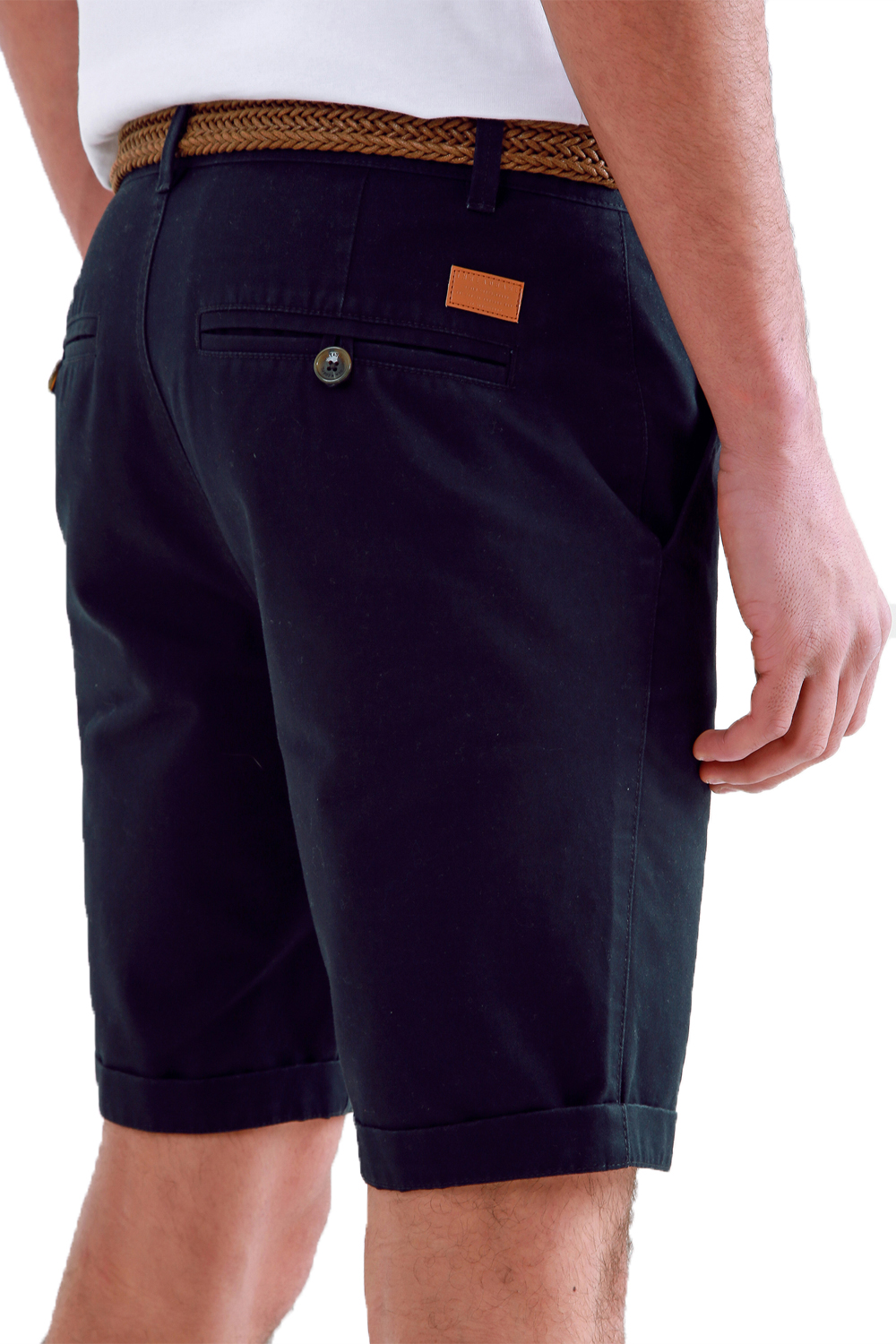 Threadbare-Mens-Slim-Fit-Belted-Chino-Shorts-Summer-Casual-Cotton-Smart-Bottoms thumbnail 6