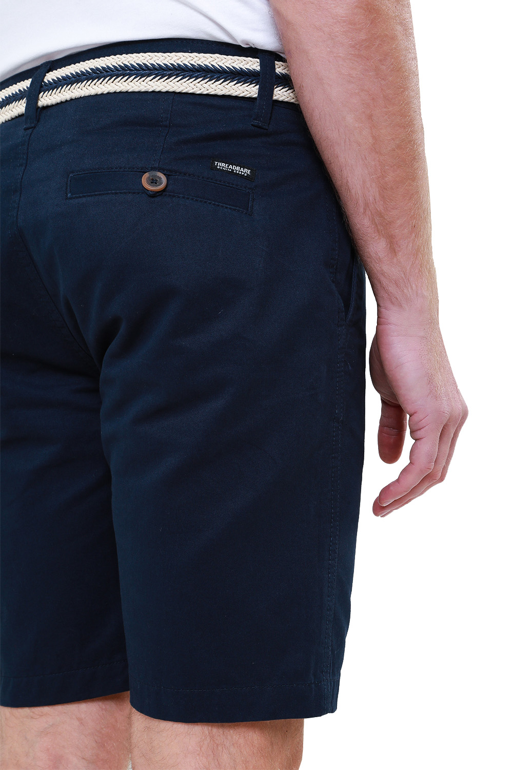 Threadbare-Mens-Slim-Fit-Belted-Chino-Shorts-Summer-Casual-Cotton-Smart-Bottoms thumbnail 22