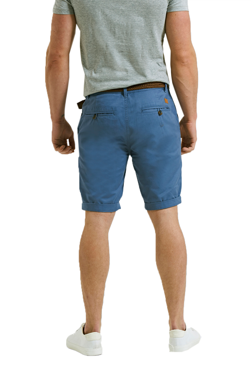 Threadbare-Mens-Slim-Fit-Belted-Chino-Shorts-Summer-Casual-Cotton-Smart-Bottoms thumbnail 10