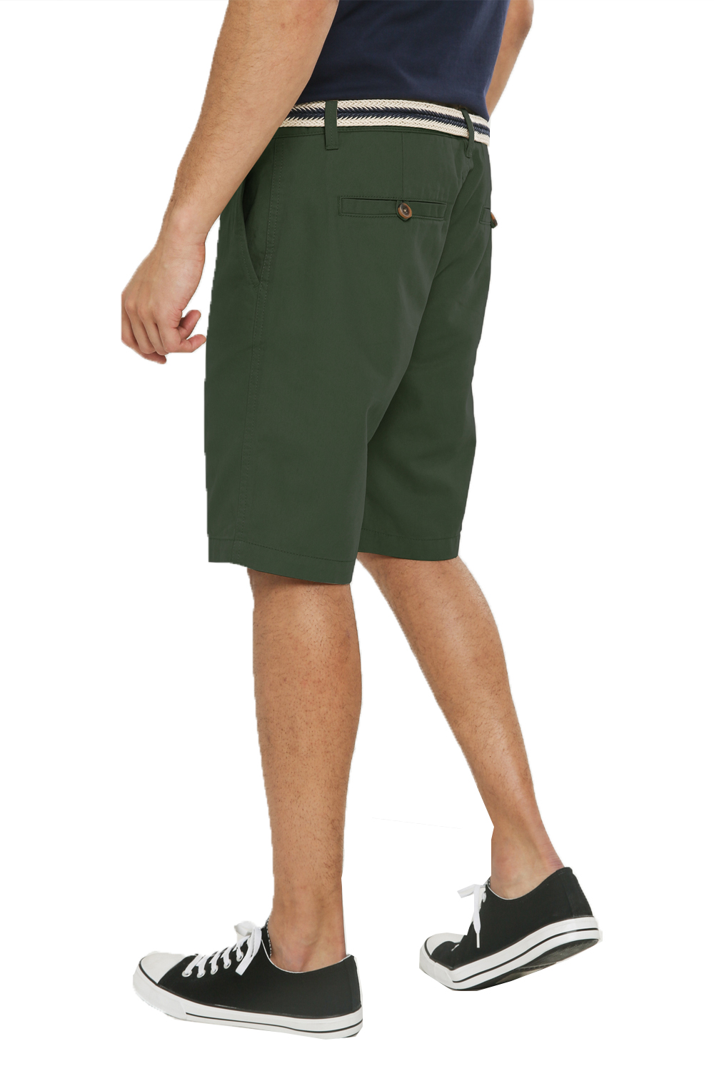 Threadbare-Mens-Slim-Fit-Belted-Chino-Shorts-Summer-Casual-Cotton-Smart-Bottoms thumbnail 31