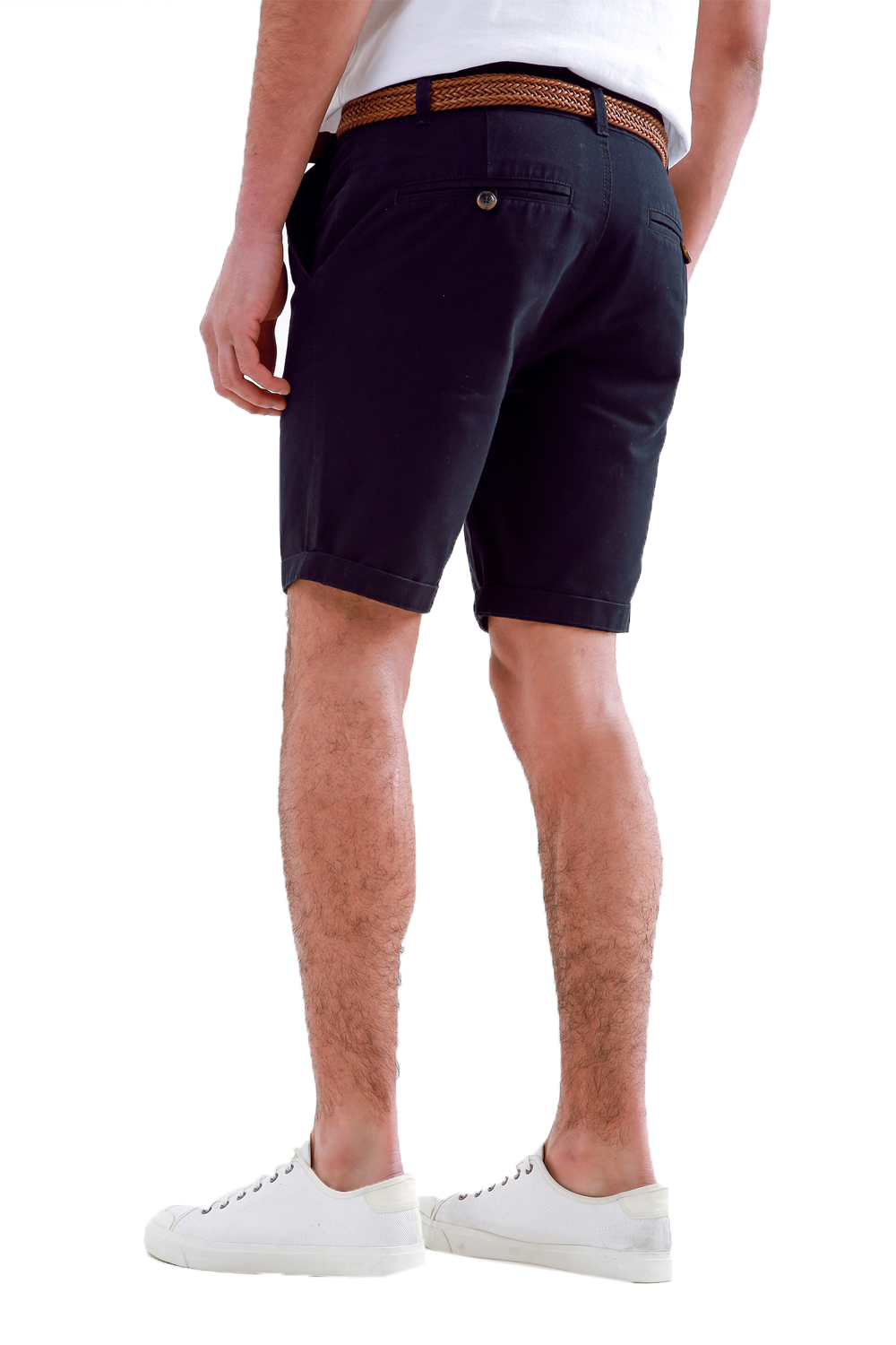 Threadbare-Mens-Slim-Fit-Belted-Chino-Shorts-Summer-Casual-Cotton-Smart-Bottoms thumbnail 7