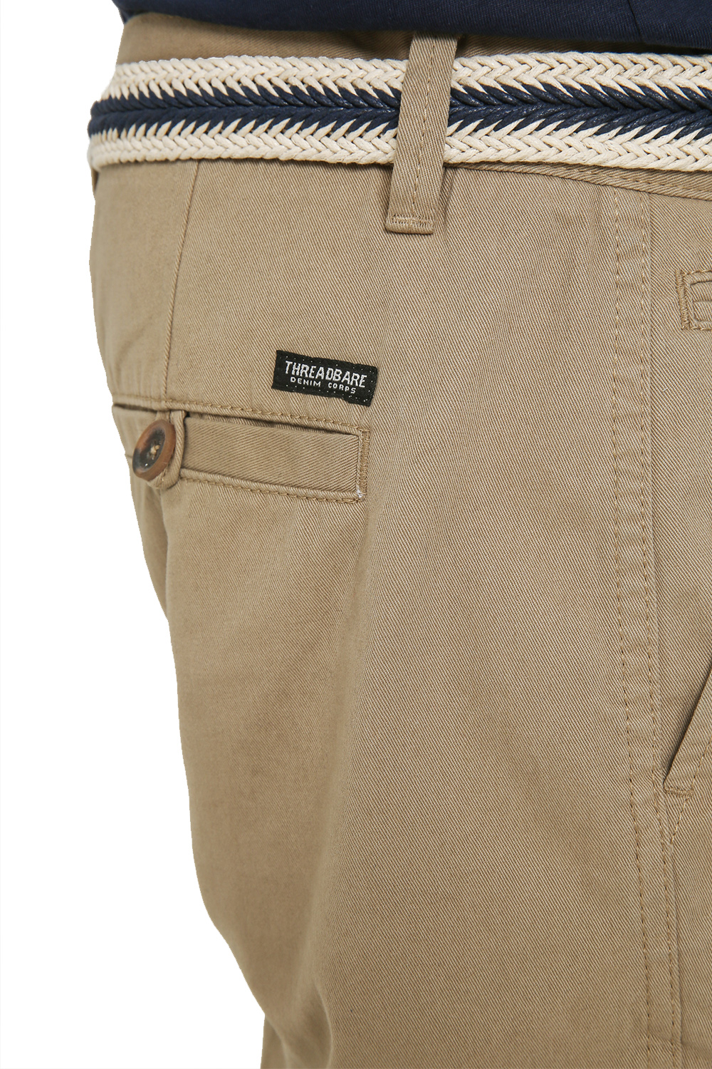 Threadbare-Mens-Slim-Fit-Belted-Chino-Shorts-Summer-Casual-Cotton-Smart-Bottoms thumbnail 28