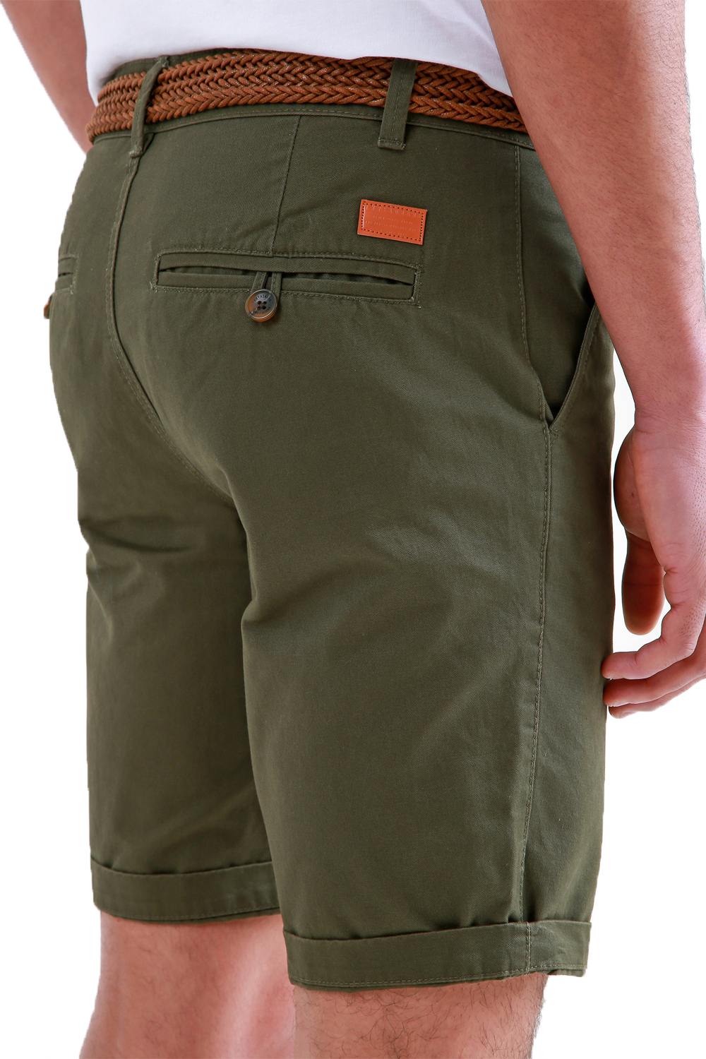 Threadbare-Mens-Slim-Fit-Belted-Chino-Shorts-Summer-Casual-Cotton-Smart-Bottoms thumbnail 13