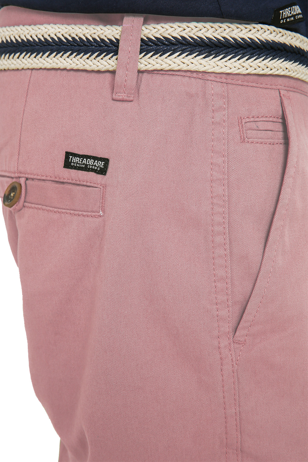 Threadbare-Mens-Slim-Fit-Belted-Chino-Shorts-Summer-Casual-Cotton-Smart-Bottoms thumbnail 40