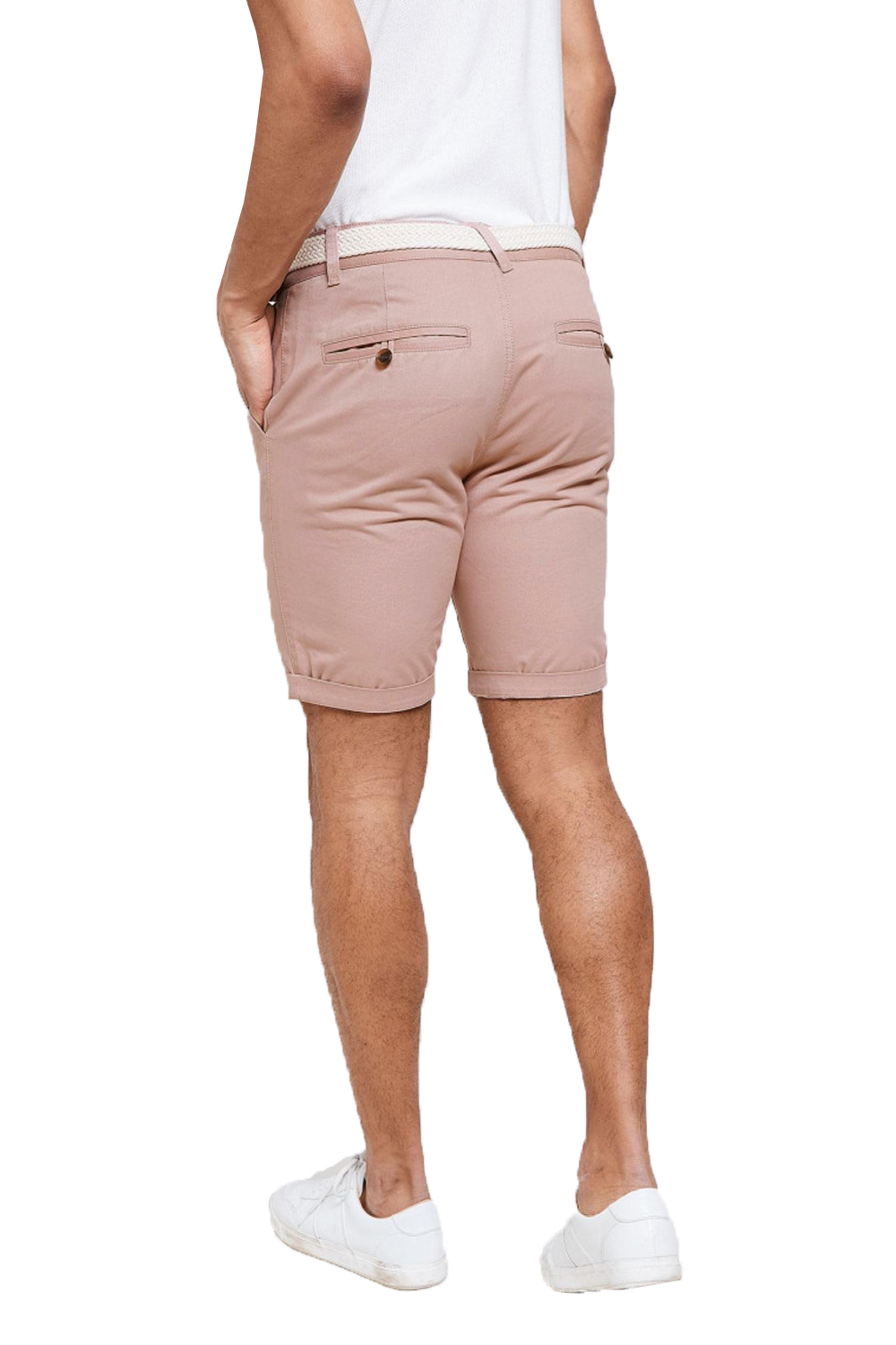 Threadbare-Mens-Slim-Fit-Belted-Chino-Shorts-Summer-Casual-Cotton-Smart-Bottoms thumbnail 17