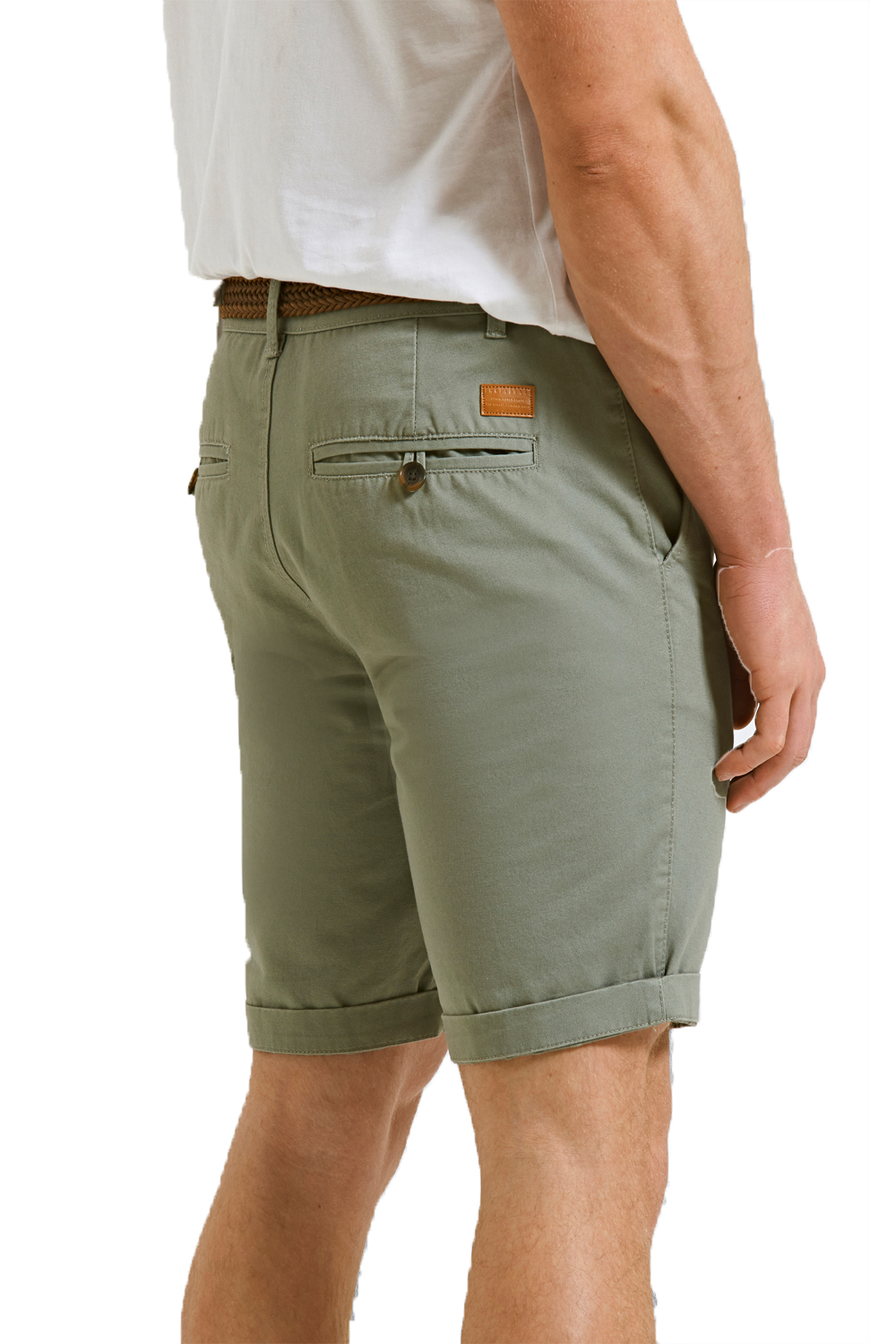 Threadbare-Mens-Slim-Fit-Belted-Chino-Shorts-Summer-Casual-Cotton-Smart-Bottoms thumbnail 19