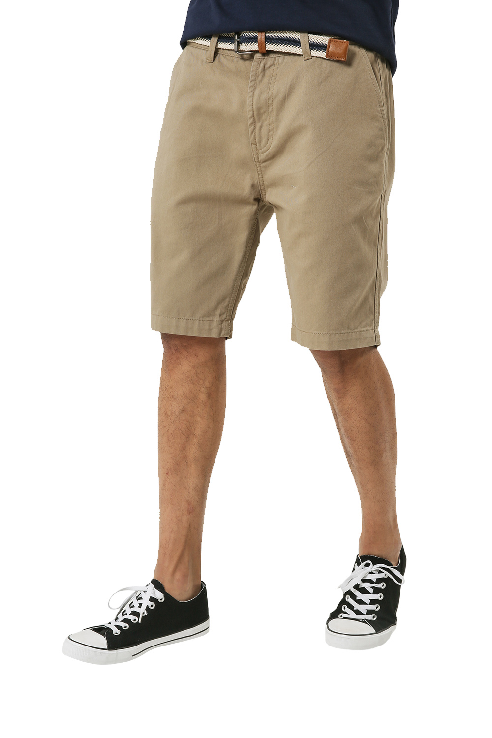 Threadbare-Mens-Slim-Fit-Belted-Chino-Shorts-Summer-Casual-Cotton-Smart-Bottoms thumbnail 25