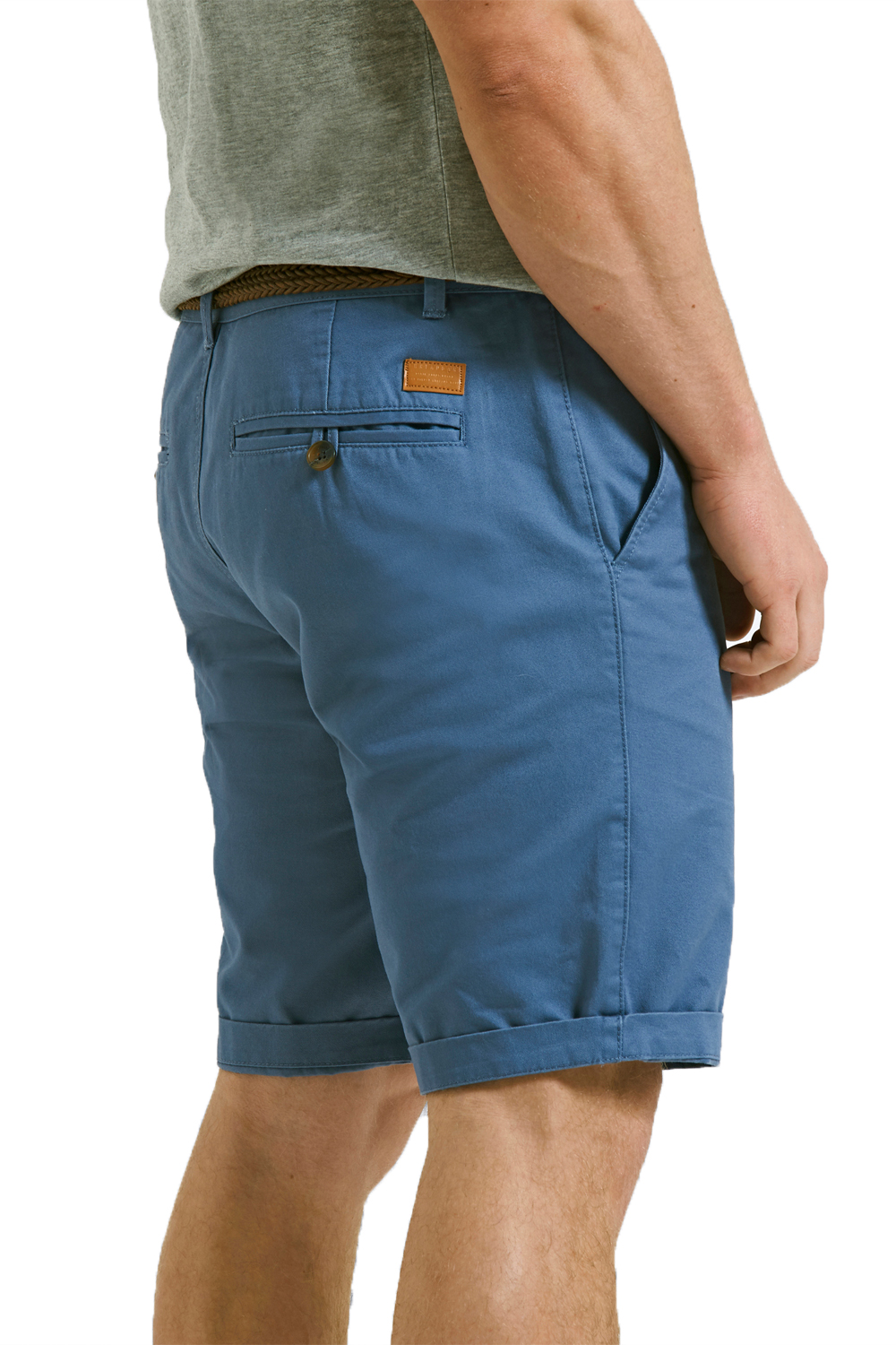 Threadbare-Mens-Slim-Fit-Belted-Chino-Shorts-Summer-Casual-Cotton-Smart-Bottoms thumbnail 9