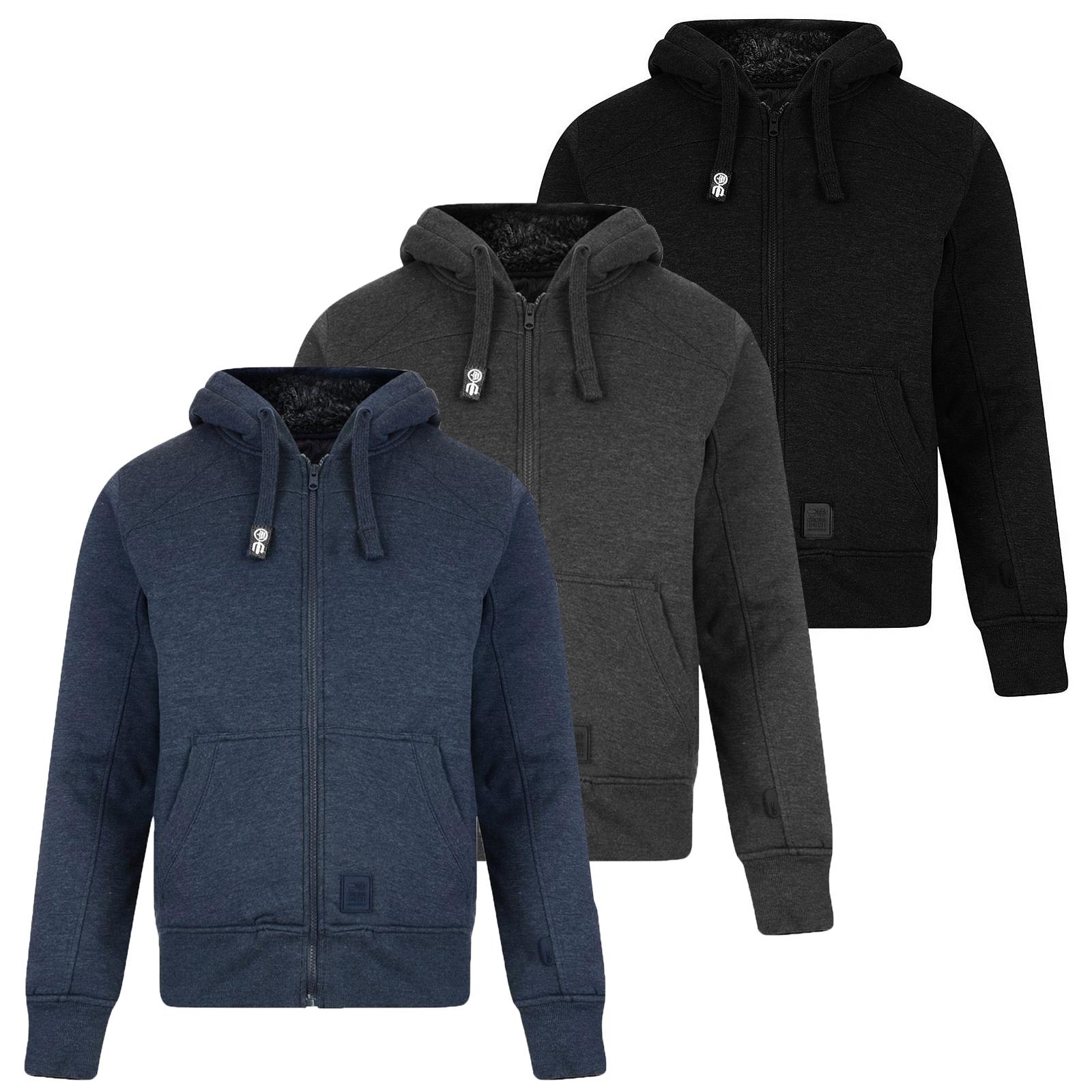 Mens faux fur lined hoodie