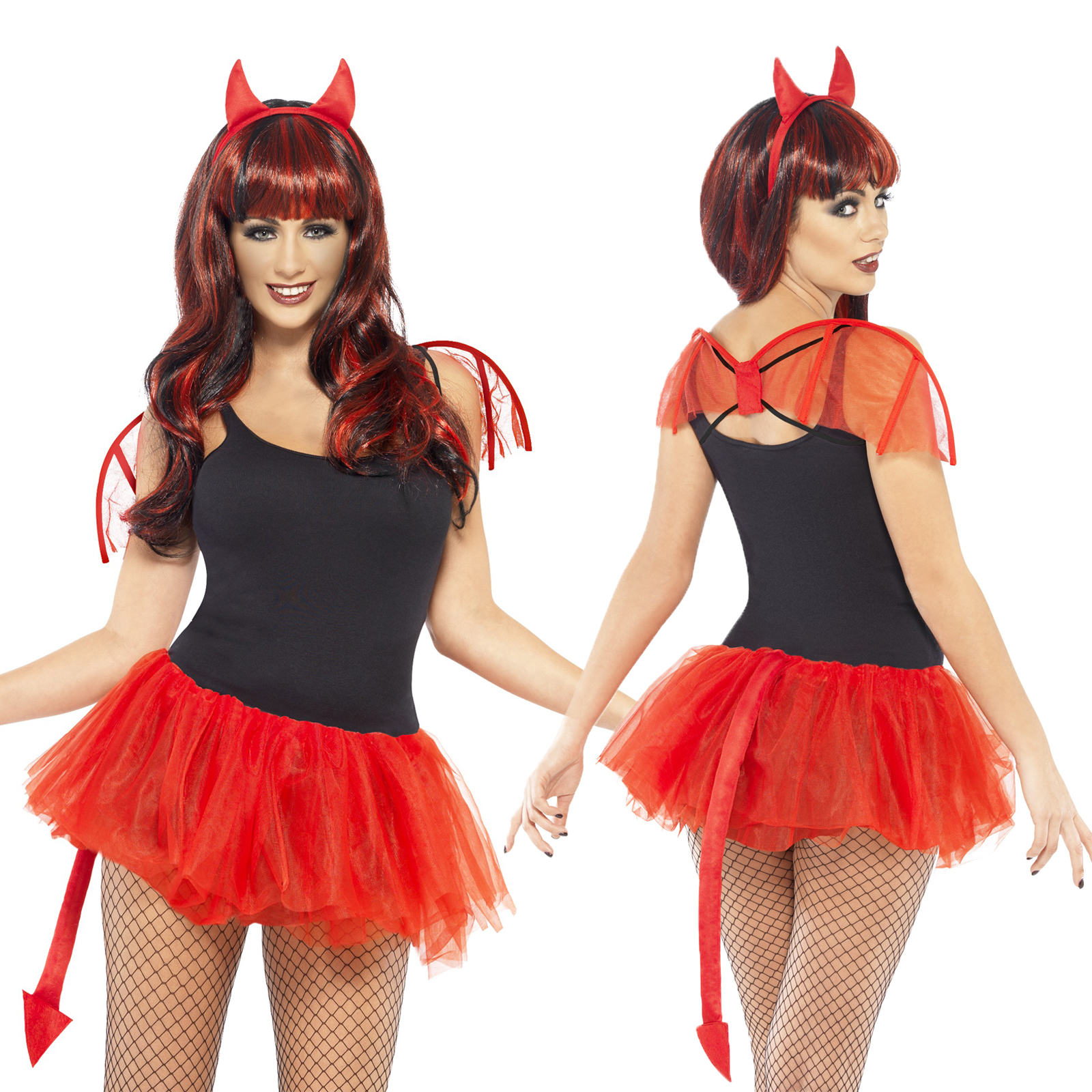 smiffy 39 s erwachsene lecker devil maskenkost m damen halloween zubeh r ebay. Black Bedroom Furniture Sets. Home Design Ideas