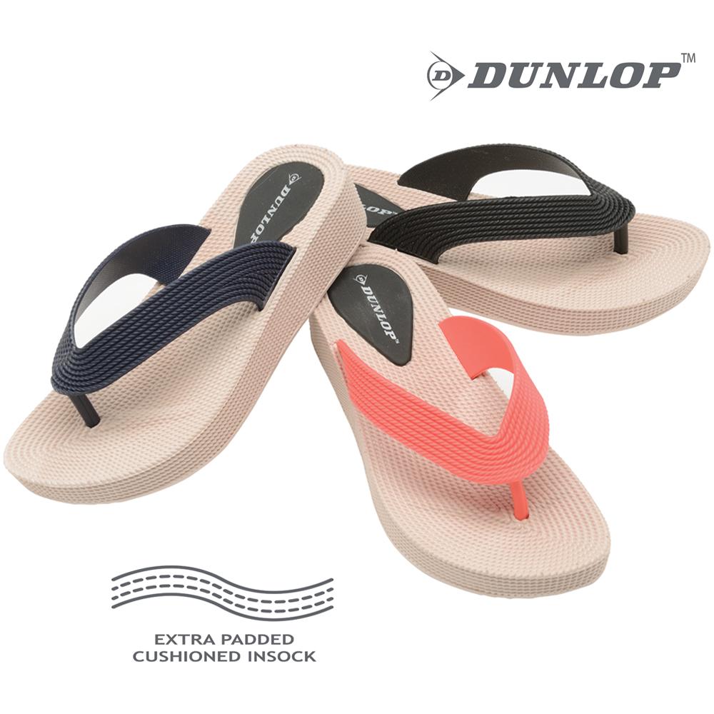 Dunlop Sandalias planas acolchadas para dedo del pie
