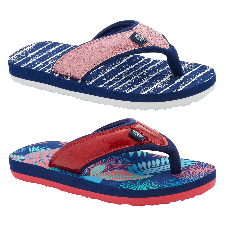 27adcd7f5eccbf Details about Animal Girls Swish Glitz Thong Flip-Flops Kids Metallic  Padded Toe Post Sandals