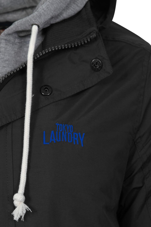 Tokyo-Laundry-Maspeth-Mens-Double-Layer-Hooded-Jacket-Padded-Windproof-Warm-Coat thumbnail 5