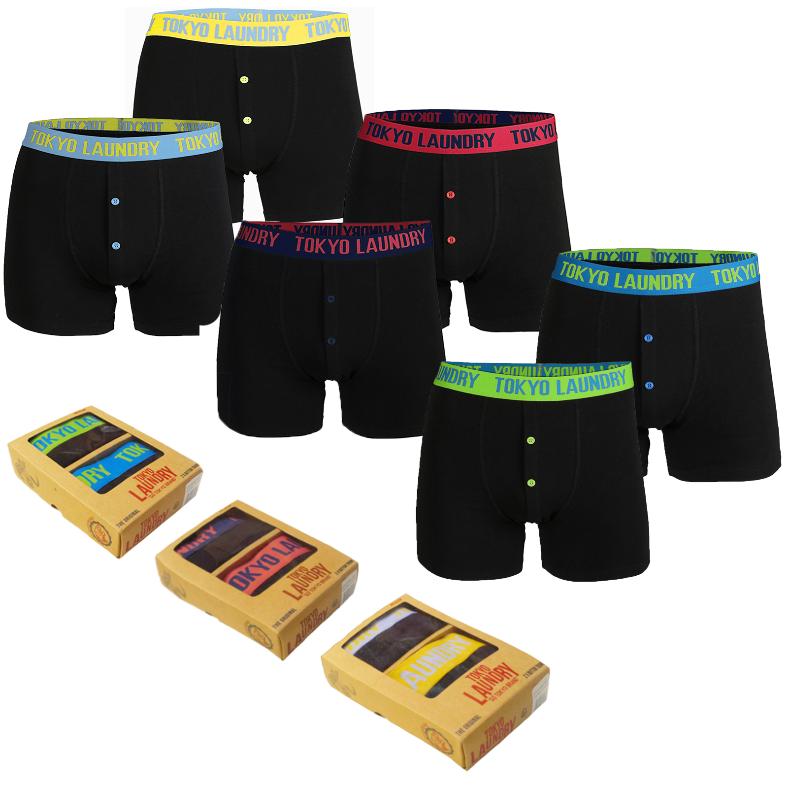 Tokyo Laundry Mens Exmouth Designer Stretch Fit Boxer Shorts